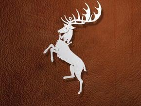 Baratheon Ornament / Pendant in White Natural Versatile Plastic