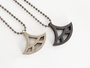 Fan Pendant - Essential Oil Diffuser Pendant in Polished Bronzed Silver Steel