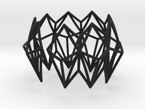 Rhombus Bracelet in Black Natural Versatile Plastic