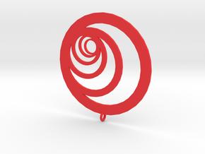 Moon Rings in Red Processed Versatile Plastic