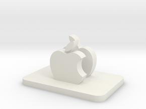 Tripod Cell Phone Holder in White Natural Versatile Plastic