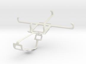 Controller mount for Xbox One & Lava Iris Alfa in White Natural Versatile Plastic