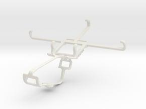 Controller mount for Xbox One & Lava Iris X8 in White Natural Versatile Plastic