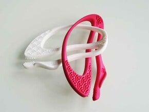 """Seigaiha"", Pinch Holders in Pink Processed Versatile Plastic"