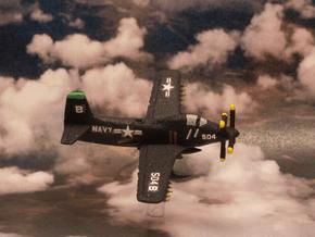 Douglas A2D Skyshark (2 airplanes set) 6mm 1/285 in White Natural Versatile Plastic