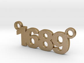 1689 Pendant  in Polished Gold Steel