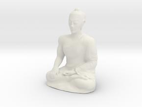 Empowering Buddha Statue in White Natural Versatile Plastic