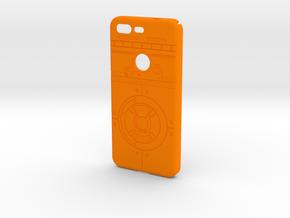 Rolling Droid Case for Google Pixel in Orange Processed Versatile Plastic