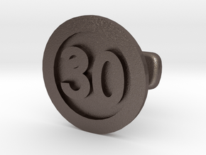 Cufflink 30 (price per piece) in Polished Bronzed Silver Steel