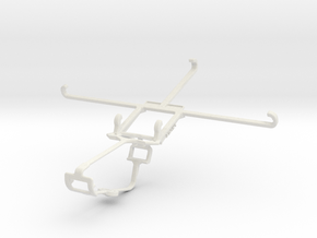 Controller mount for Xbox One & Sony Xperia Z Ultr in White Natural Versatile Plastic