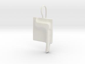 23 Kaf-sofit Earring in White Natural Versatile Plastic