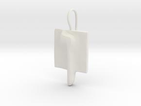 25 Nun-sofit Earring in White Natural Versatile Plastic