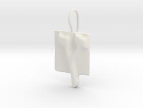 27 Tzadi-sofit Earring in White Natural Versatile Plastic