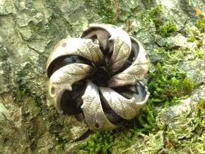 Xylem Pocket Sculpture in Polished Bronze Steel