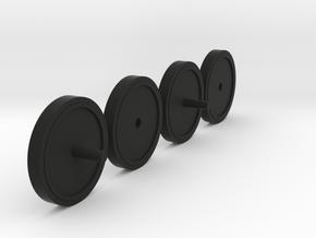 1/35 T-35A Idler Wheel (hobby boss) in Black Natural Versatile Plastic