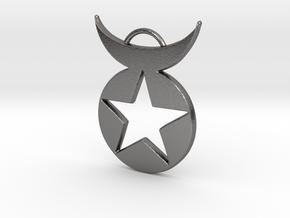 Star Emblem pendant in Polished Nickel Steel