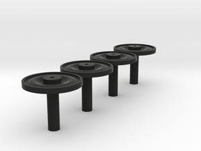 Radscheibennaben 3mm in Black Natural Versatile Plastic