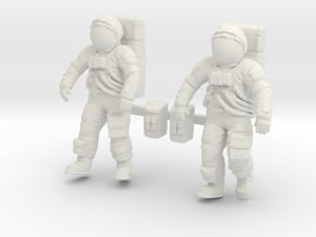1: 48 Apollo Astronaut a7lb Type / Set ll in White Natural Versatile Plastic