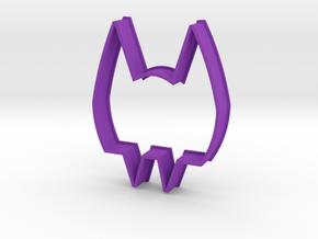Cookie Cutter Vampire in Purple Processed Versatile Plastic