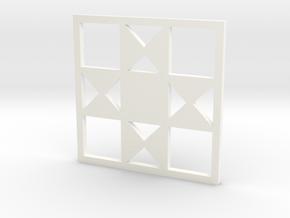 Ohio Star Pendant in White Processed Versatile Plastic