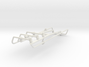 1/16 Tiger II fuel tank vent pipes. in White Natural Versatile Plastic