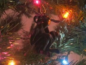Krampus Ornament - Mini in Black Natural Versatile Plastic