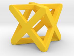 Christmas star  in Yellow Processed Versatile Plastic