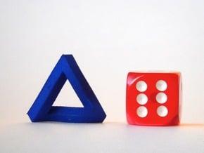 Impossible Triangle, Mini in Blue Processed Versatile Plastic