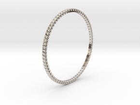 "Bangle simple ""diamonds"" in Rhodium Plated Brass"