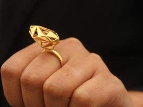 The Matrix Ring in Polished Brass: 6 / 51.5