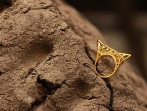 Parallel Universe Ring in Polished Brass: 6 / 51.5