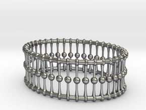 Bracelet Oval Cones Balls And Rings 3 In X 225 in Polished Silver