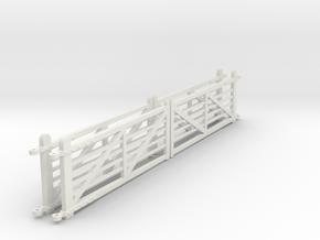 "EP710 4 x NSR 12'6"" Crossing gates in White Natural Versatile Plastic"