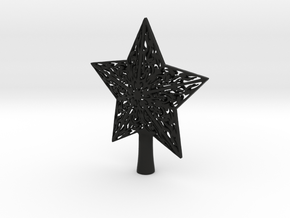 Star christmas in Black Natural Versatile Plastic