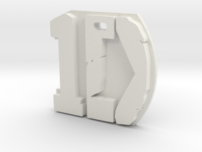 One Direction pendant in White Natural Versatile Plastic