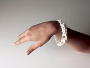 Osseous Bracelet Dense in White Processed Versatile Plastic