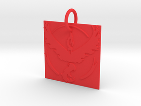 Valor Keychain in Red Processed Versatile Plastic