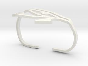 Eye of Horus Two Finger Ring in White Natural Versatile Plastic