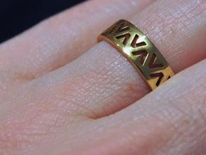 24 Caret Gold Ring (63mm) in White Natural Versatile Plastic