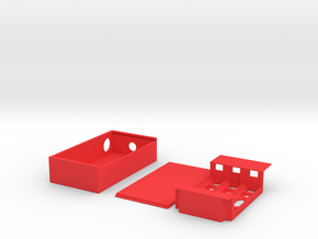 Triple Series Box Mod in Red Processed Versatile Plastic