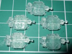 "Spacer1999 BT-C3 ""Construction Chameleon"" Shuttles in Smooth Fine Detail Plastic"