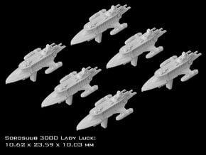 (Armada) 6x SoroSuub Yacht 3000 Lady Luck in Smooth Fine Detail Plastic