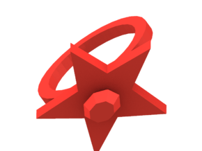 Scarlet Pimpernel Ring red plastic in White Natural Versatile Plastic