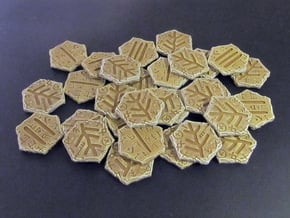 Elder Sign tokens in White Natural Versatile Plastic: Small
