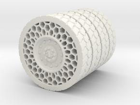 Airless Tire1 46mm in White Natural Versatile Plastic