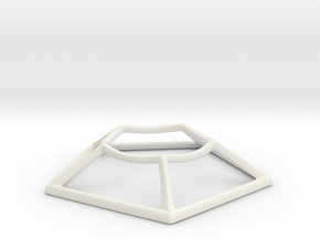 Base 16 Frame in White Natural Versatile Plastic