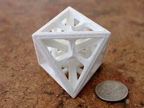 Octahedron in White Processed Versatile Plastic: Medium