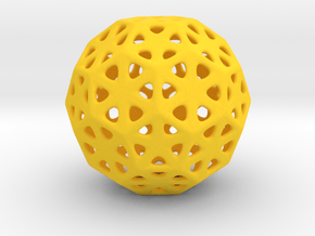 1 Inch Soccer Ball Triangles in Yellow Processed Versatile Plastic