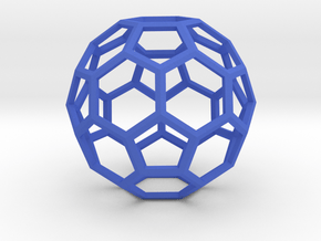 1 Inch Soccer Ball Wireframe in Blue Processed Versatile Plastic