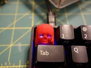 Cherry MX Skull Keycap in Red Processed Versatile Plastic